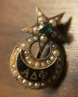 Alpha Delta Phi Fraternity Pin From Hamilton College 1877.