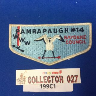 Boy Scout Oa Pamrapaugh Lodge 14 S1 First Flap Ff Order Of The Arrow Flap Patch
