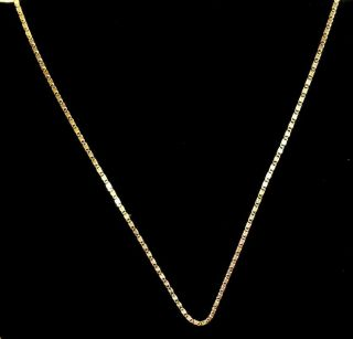 """Vintage Milor 18k Gold Necklace 24 """" Made In Italy 4.  25 Grams"""