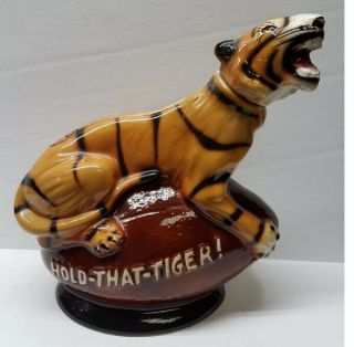 Hold That Tiger Football Decanter Ncaa Lsu - Fighting Tigers Louisiana Bengal