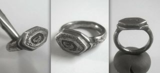 Rare Medieval Knights Crusader Silver Ring Likely From The Order Of The Dragon