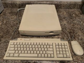 Vintage Apple Macintosh Quadra 605 Computer With Keyboard And Mouse