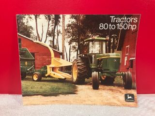 Rare 1972 John Deere Farm Tractor Dealer Sales Advertising Brochure