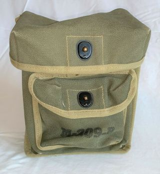 Wwii Us Army M - 209 - B Converter Cypher Code Canvas Storage Carrying Bag