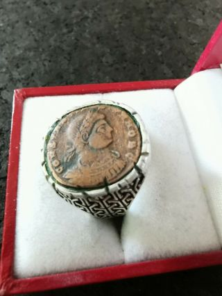 Roman Ring / One Of A Kind Of Constantine 2,  000 Years Old