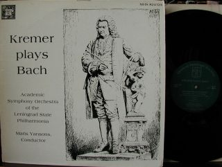 Gidon Kremer/bach E Major Violin Concerto; Sonata In E Minor Mhs Stereo
