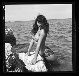 2.  Rare Bettie Page 1954 Camera Negative Photo Bunny Yeager Nude Pin Up