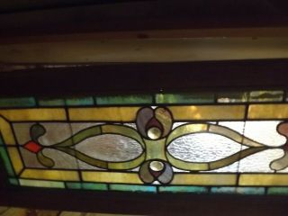 Antique American Stained Glass Window,  Circa 1899