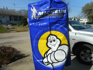 Vintage Nos Michelin Man Tire Gas Station Advertising Tire Stack Cover Top Sign