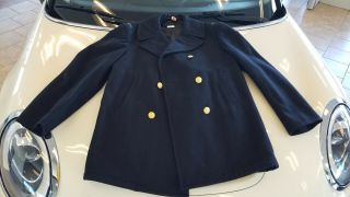 ☆☆ Vintage Usn Officers Pea - Coat Size 42r Gorgeous ☆☆