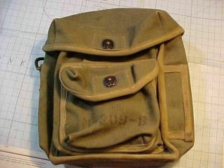 Wwii Canvas M - 209 - B Us Signal Corp Code Converter / Cypher Carrying Bag