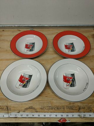Andy Warhol Signed Campbell's Tomato Soup Bowls Block Pop Art Series Qty.  4