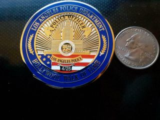 Los Angeles Police Department Hollywood Walk Of Fame Ironman Challenge Coin 4/25