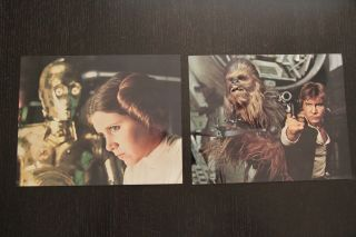 Star Wars A Hope 1977 8x10 Set Of 8 Full Bleed Lobby Cards - Rare