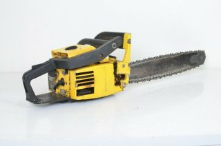 "Vintage Mcculloch Pro Mac 610 Chainsaw Chain Saw With 24 "" Bar Runs Needs Tuned"