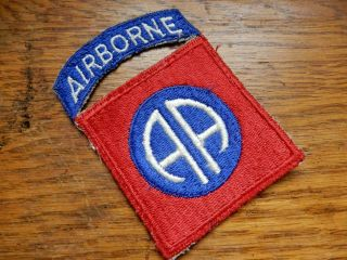 Wwii 82nd Airborne Division Attached Tab Uniform Patch
