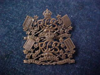 """Orig Ww2 Officers Collar Badges """" Rccs """" Royal Canadian Corps Of Signals"""