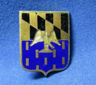 Wwii Sterling 313th Infantry Regiment Di Unit Crest Pin By Newcome