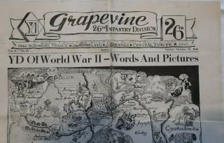 Wwii Grapevine 26th Infantry Division 10 Pages Yd Wwii Words And Pictures.
