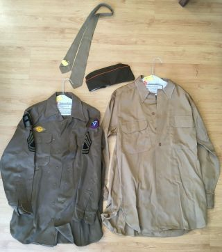 Ww 2 Uniform / Clothing.  Shirts,  Pants,  Tie And Hat