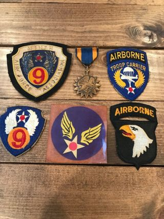 Wwii Us Airborn Patch And Medal Set