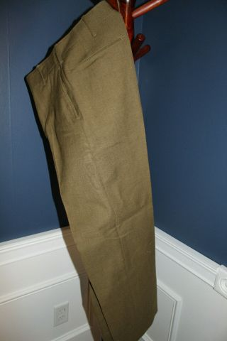Early Ww2 U.  S.  Army Wool Field Combat Trousers (pants) 1941 Dated,  Vg