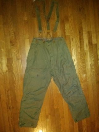 Ww2 Vtg A - 9 Air Flight Pants Trousers Alpaca,  Sz 40,  Wwii,  With Suspenders Vgc