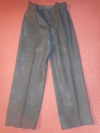 France Army: 1950 Brown Wool Battledress Trousers Militaria