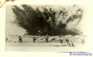 Port.  Photo: Cover Us Combat Infantry Under Artillery Attack In Pacific; 1944