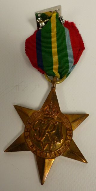 1939 - 45 Ww2 Canada Military Pacific Star Medal