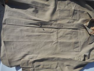 Ww2 Us Army Enlisted Mans Wool Long Sleeve Shirt Size L Mfg Liberator Named