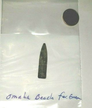 Ww2 Us.  30 Relic From Fox Green Sector Omaha Beach D - Day