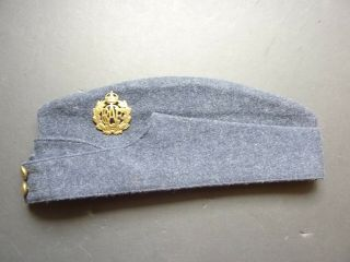 Wwii Royal Canadian Air Force Wedge Cap With Badge