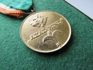 Ww2 German Gold Azad Hind Medal With Ribbon