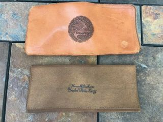 Leather Embossed Zip Case W/us Navy Honorable Discharge Leather Case