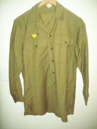 Army Wool Field Shirt With Gas Flap 15 X 33