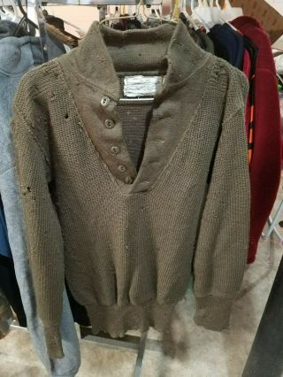 Wwii Us 1944 Pattern High - Neck Sweater