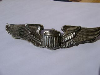 """Ww 2 Us Army Air Corps Pilot Wings Sterling G.  I.  Marked 3 """" Clutch Back"""