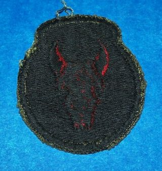 Black Back Ww2 British Made 34th Infantry Division Od Border Patch