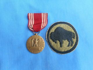 Wwii Us Army Good Conduct Medal Engraved Colored Troops