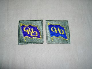 Ww2 Ghq Southwest Pacific Variation Set Blue And Purple Banners
