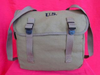 Canvas Knapsack Usa Army 36 Type Musette Rucksack Bag Soldier Backpack