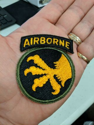 Wwii Us Army 11l7th Airborne Division Patch With Un - Attached Tab Look