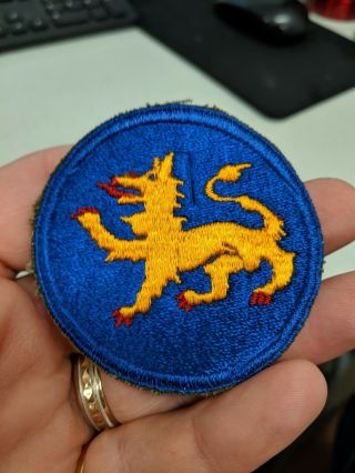 Wwii Us Army 157th Infantry Phantom Division Patch Look