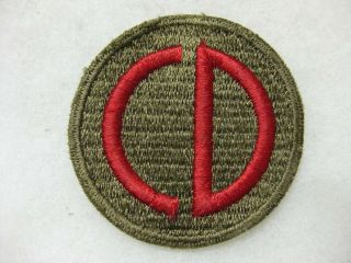 Wwii 85th Custer Division Patch German Theater Made