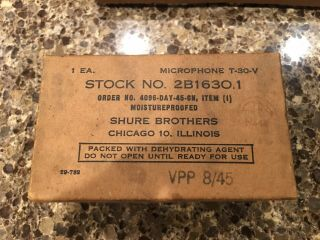 Wwii Shure Throat Microphone T - 30 - V Nos