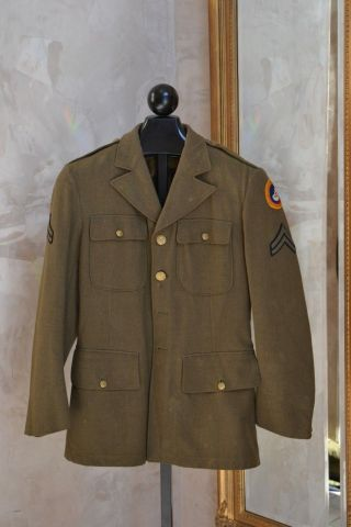 Ww2 Us Army Air Corps Third Air Force (3af) Service Coat Corporal Wwii