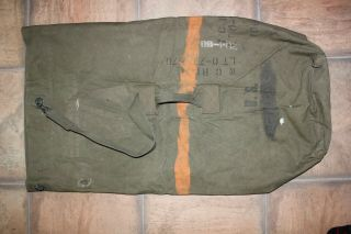 Vintage Us Military Issue Ww2 Dated 1944 Canvas Duffle Bag Dg11