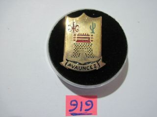 Army Di Dui Crest Pb Pinback Ww2 133rd Infantry Regiment 34 Div Italian Made