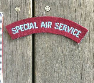 Wwii British Special Air Service Tab Arc Patch